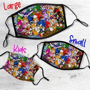 Sonic The Hedgehog Face Mask Adult or Kids